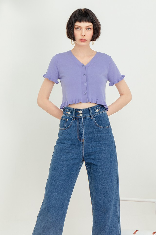 Carson Knit Top Bubblegum Purple