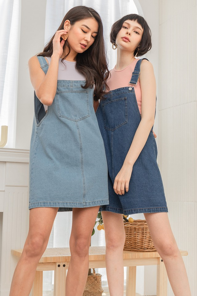 Kammi Denim Dungaree Light Wash