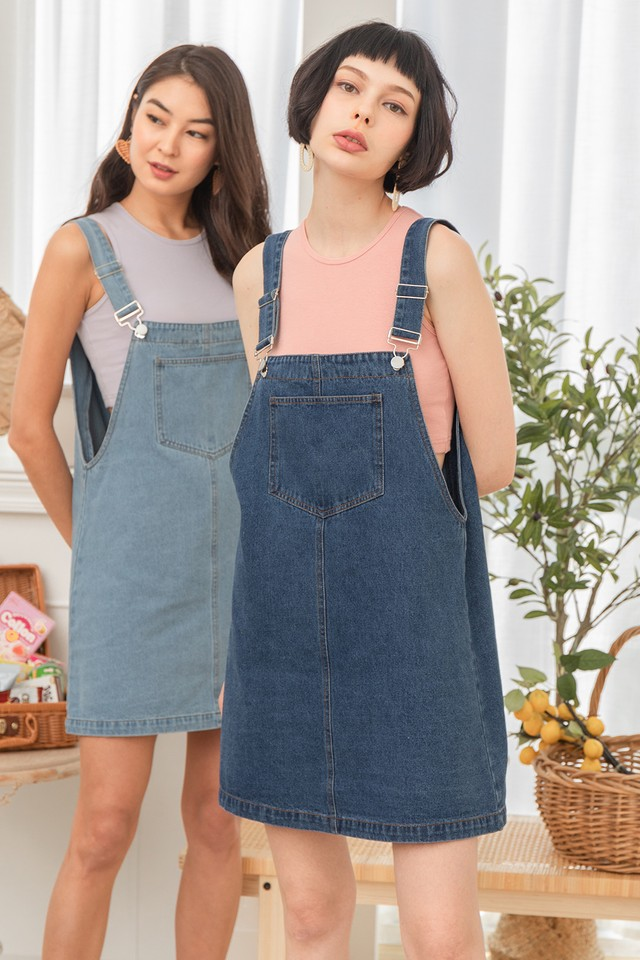 Kammi Denim Dungaree Dark Wash