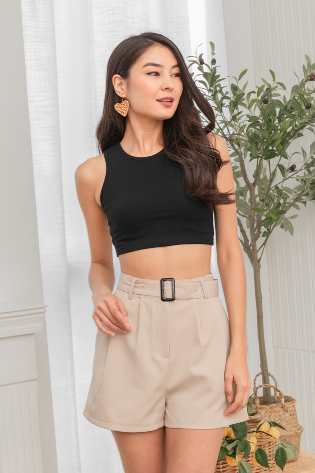 Coby Belted Shorts Sand