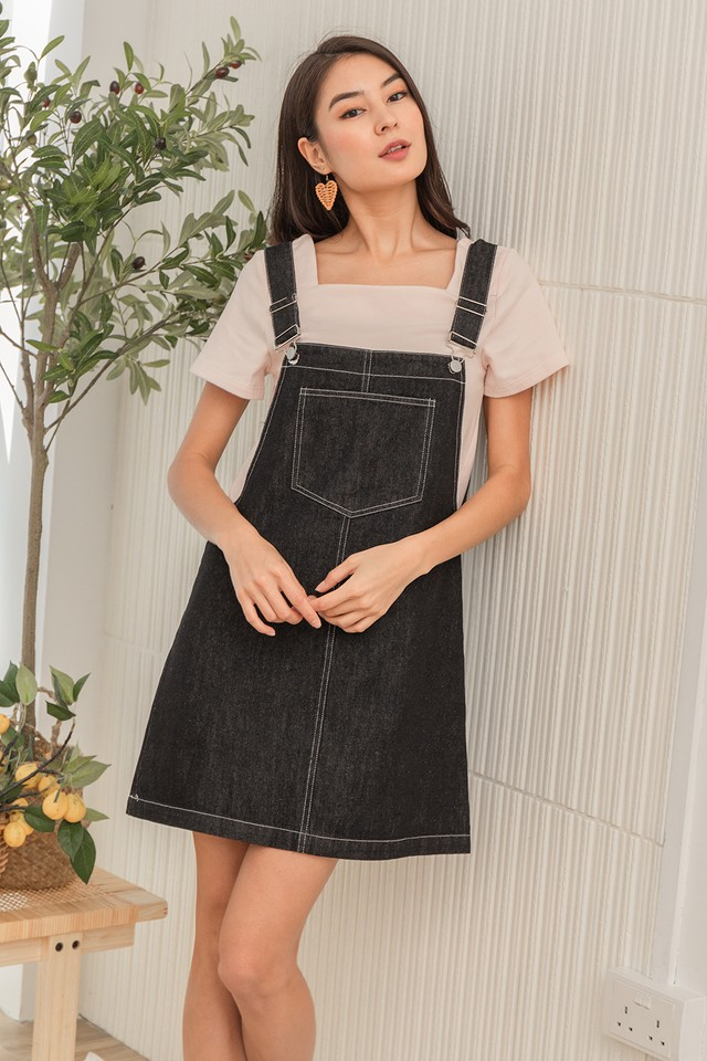 Kammi Denim Dungaree Black