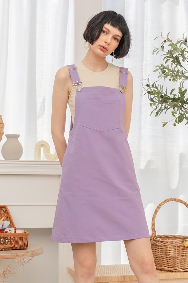 Rocio Pinafore Lavender