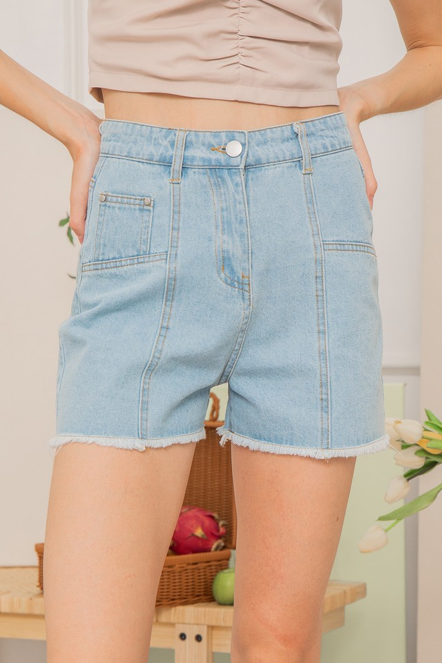 Findlay Denim Shorts Light Wash