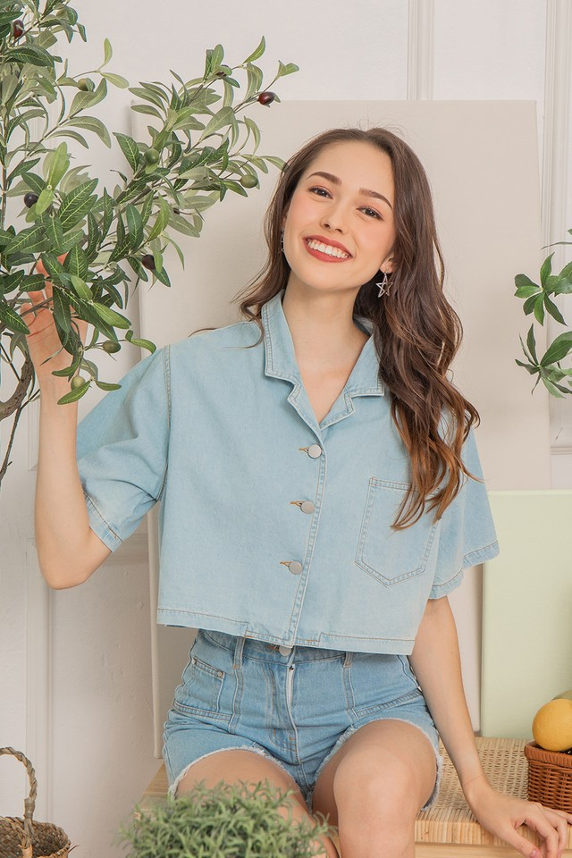 Jennie Denim Outerwear Light Wash