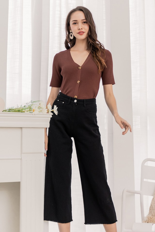 Liza Denim Pants Black