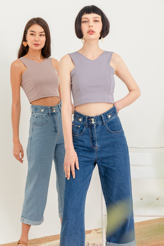 Drea Top Dusty Lilac