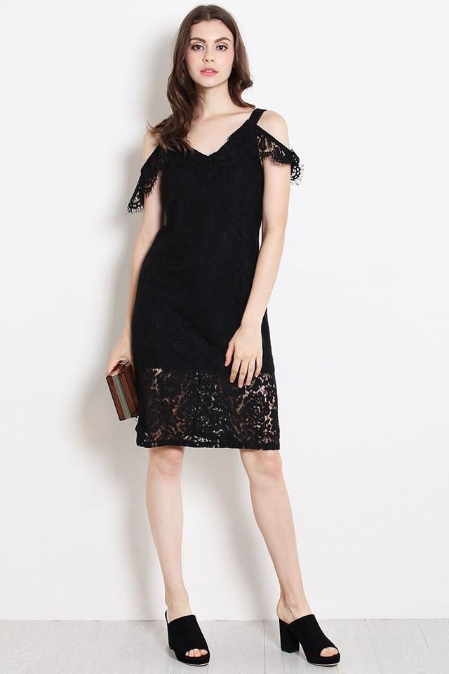 Eliza Lace Dress Black